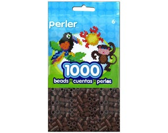 Perler Fused Bead Package Brown 1000pc - Perler Beads - Fuse Beads - Melty Beads - Bead Lot