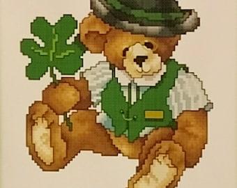 Irish Teddy Bear Cross Stitch