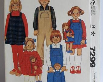 McCalls 7299 Children's overall/dress pttern size 6x