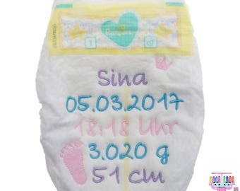 Pampers with name personalized