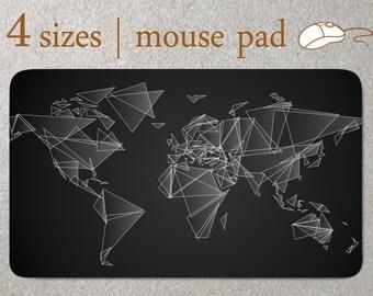 World Map Custom Mouse Pad modern Mousepad minimalist Mouse Mat geometric Computer Accessory Office Supplies Mouse Pad Desk Home Decor