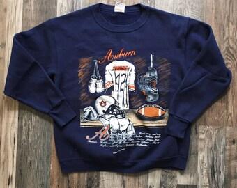 Vintage Nutmeg Auburn Tigers Sweatshirt Jumper Size Large