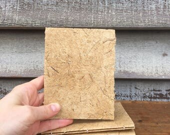 Hand Bound Little Notebook Covered with Handmade Paper
