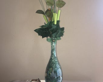 Crystal etching vase