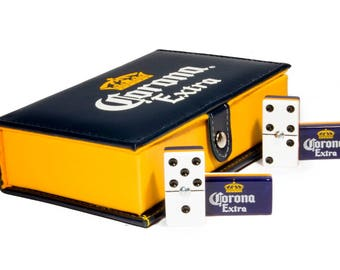 Cerveza Corona Beer Domino Game Set Double 6 Dominoes Dominos Man Men Gift Dominoes Man Cave Father Dad Husband Birthday Gift Craftbeer Bar