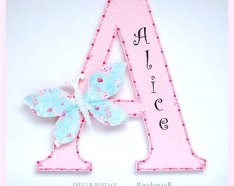 Butterfly Personalised Letter Name Plaque