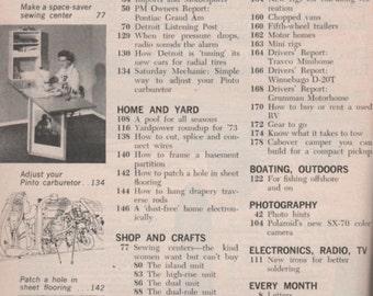 Popular Mechanics Magazine March 1973 Special: Motor Camping