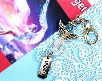 Dream Angel. Dream Angel Charm. Dream Angel Purse Charm. Dream Angel Keychain.