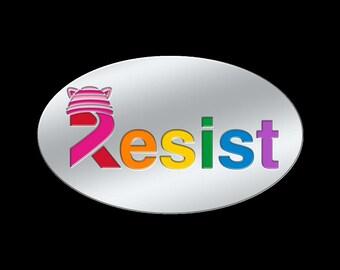 "Resist Trump Women's March ""PussyHat"" Lapel Pin. March on Washington, NotMyPresident, #Resist, Protest"