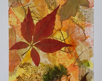 "Greeting Card Collage. ""Autumn"""
