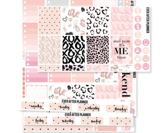 july planner stickers, july weekly kit, Love Live Peach and Pink weekly kit, eclp stickers for use with ERIN CONDREN LIFEPLANNER™