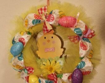 Yellow Easter Wreath