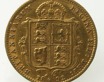 Victorian gold half Sovereign