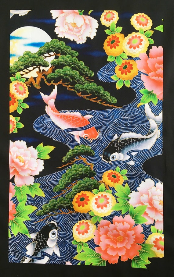 Japanese Fabric Panels Quilting Panels Oriental Fabric