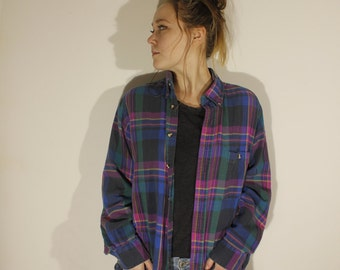 Vintage Cotton Plaid Flannel