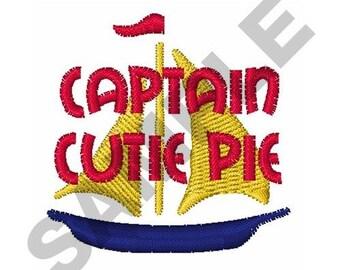Captain Cutie Pie - Machine Embroidery Design