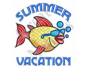 Summer Vacation - Machine Embroidery Design