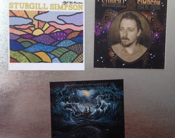 Sturgill Simpson MAGNETS collectible music gift Country outlaw roots rock blues alt country soul indie Dap Kings John Sturgill Simpson vinyl
