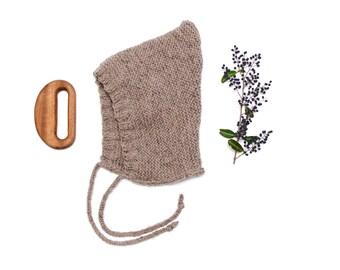 Sandstone Knit Pixie Bonnet