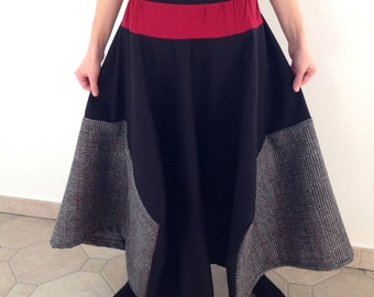 Skirt-flared skirt with the tips fall winter collection