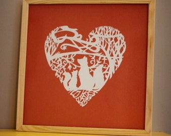 Foxes Paper Cutting