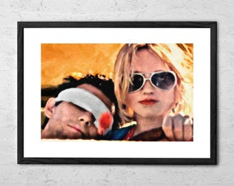 Clarence and Alabama - Painting - True Romance - True Romance Movie - Christian Slater - Patricia Arquette - Movie Poster - Film Poster
