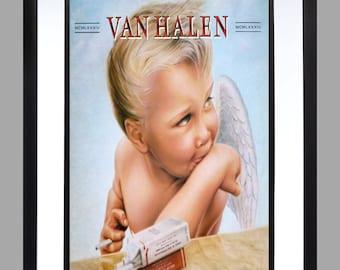 Van Halen A3 Wall Art Print , Graphic . Home Art . Eddie 1984