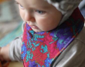Fetching Floral - Reversible Baby Bandana Hipster Bib