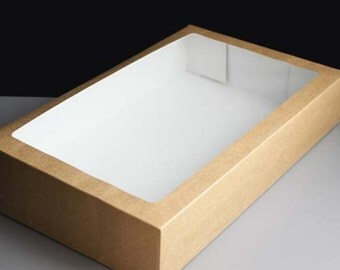 Luxury Kraft Gift Box with Window - Large
