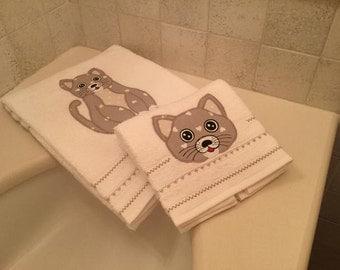 Pair of towels Cat