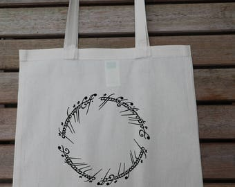 Lord Of The Rings Elvish Circle Tote Bag, Cotton Fashion Bag, Carrier Bag, Market Bag, Funny Tote, Gift For Her 38