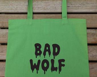 Bad Wolf Tote Bag, Cotton Fashion Bag, Carrier Bag, Market Bag, Funny Tote, Gift For Her 80