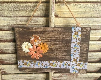Sweet Country Flowers Wall Decor