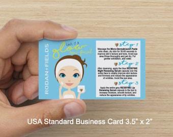 Rodan + Fields Glow Flyer Business Card Instructions File