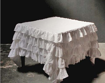 Ruffle Tablecloth Etsy