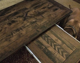 SOLD Handmade Maple & Oak Coffee Table