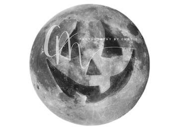Jack O Lantern moon overlay