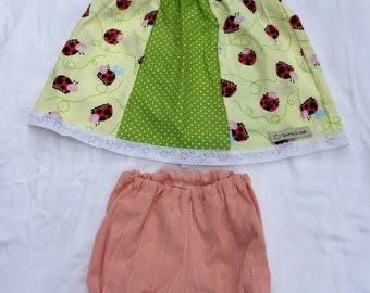 Size 6-12 Months Girls Clothing - Ladybirds and Spots