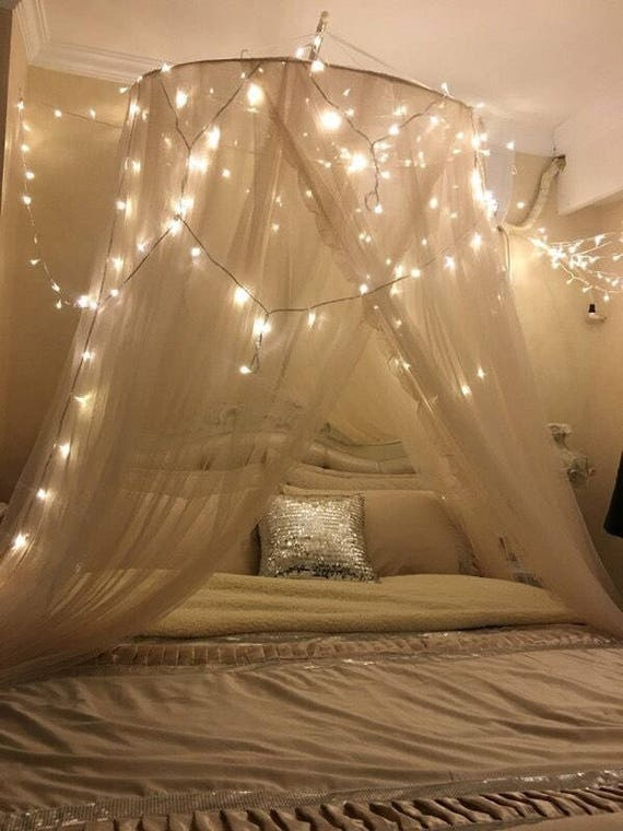 Canopy Bedroom Curtains: Sheer Bedding Canopy Mesh Bed Curtain Bed Canopy Wedding