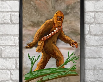 Chewbacca - Bigfoot Poster Print A3+ 13 x 19 in - 33 x 48 cm  Buy 2 get 1 FREE