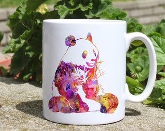 Panda mug - Animal mug - Colorful printed mug - Tee mug - Coffee Mug - Gift Idea