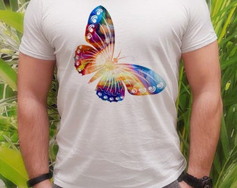 Butterfly t-shirt - Butterfly tee - Fashion men's apparel - Colorful printed tee - Gift Idea