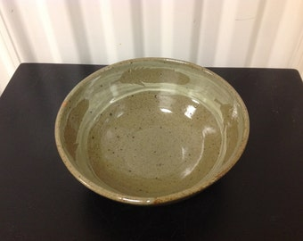 Small Green Bowl with feathers