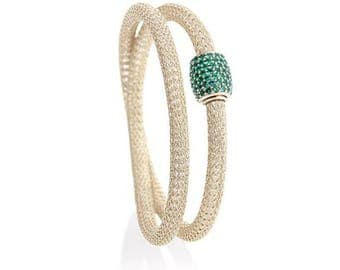 Emerald on Ice Gold Magnifico Duo Bracelet