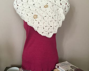 Handcrochet two button cowl