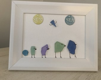 Sea Glass Art Picture