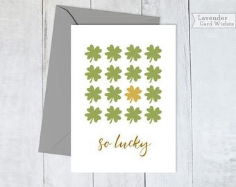Instant download Printable cards Saint Patricks day Card for her Card for him Love card Good luck card Best friend card Encouragement cards