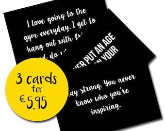 Lauren Fisher Motivational quotes Postcards   Crossfit cards