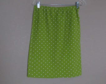 Womens Lime Green Polka Dot Skirt