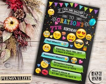 Emoji Invitation / Emoji Birthday / Emoji Party / Emoji Birthday Invitation / Emoji Party Invitation / Emoji Printable Invitation